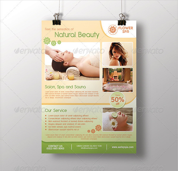 Printable Spa Service Flyer Template