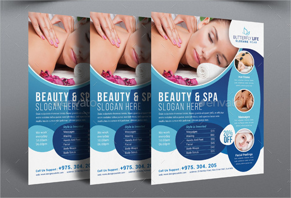 Spa Business Flyer Template