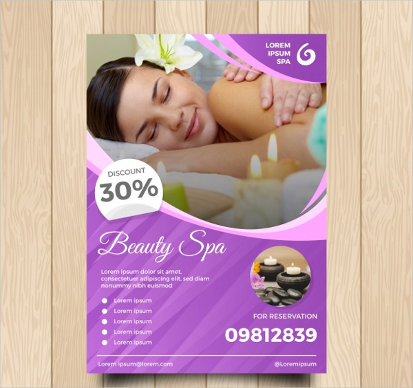 Spa Center Flyer Template Free