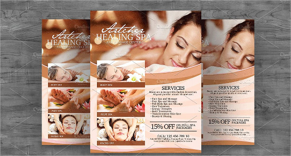 Top Spa Services Flyer Template
