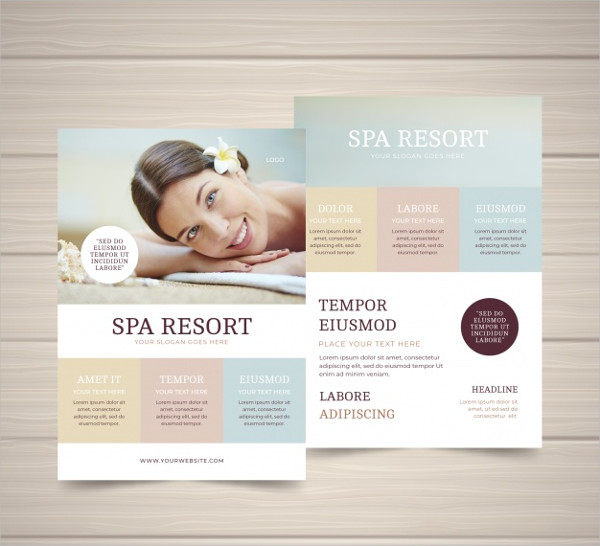 Spa Studio Flyer Template Free