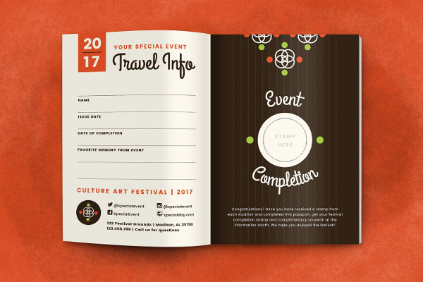 Special Event Promotional Brochure Design