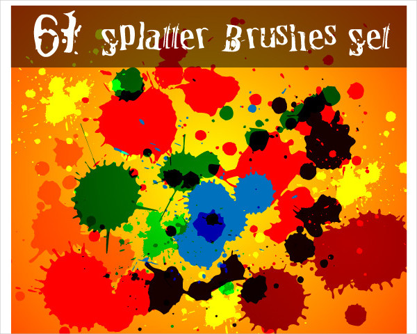 61 Splatter Blood Brushes Set