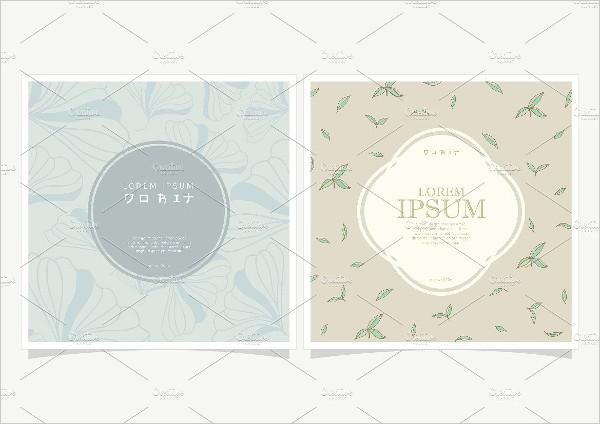 Square Floral labels Design