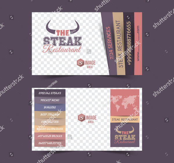 Steak Restaurant Concept Postcard