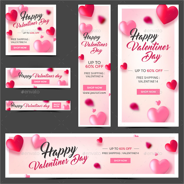 Best Valentines Day Banner Templates in Flat Design