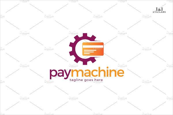 Stylish Pay Machine Logo