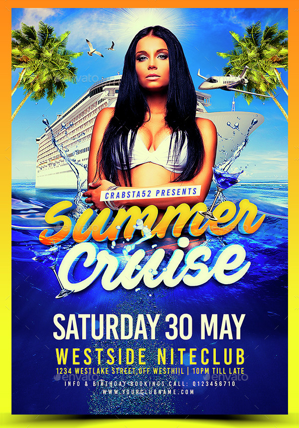 Perfect Summer Cruise Flyer Template