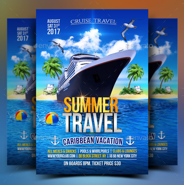Summer Cruise Travel Flyer