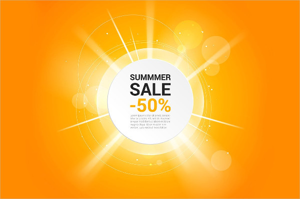 Summer Sale Vector Banner Template