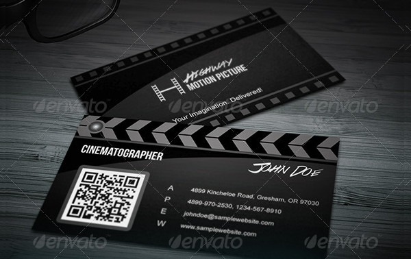 Super Creative Film Making Business Card