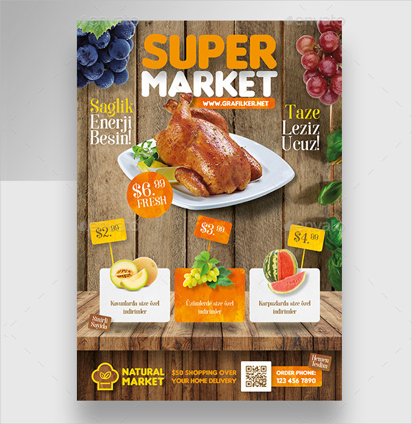 Supermarket Promotion Flyer Templates