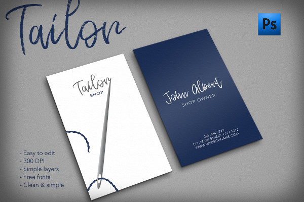 Tailor Shop Creative Business Card Designs