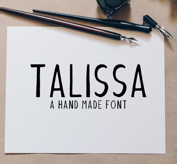 Talissa A Handmade Font
