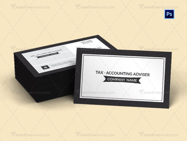 Tax Adviser Business Card Template