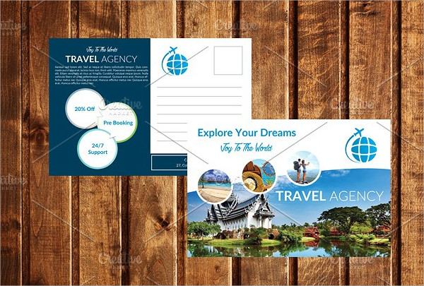 Travel Promotion Postcard Template