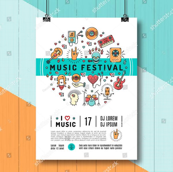 Trendy Concert Poster Design