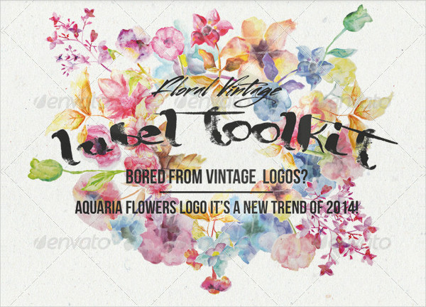 Trendy Vintage Floral Labels Toolkit