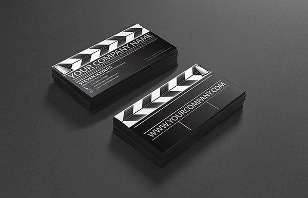 Unique Film Director Business Card Design