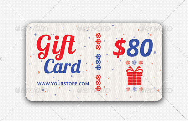 Unique Holidays Gift Card Design