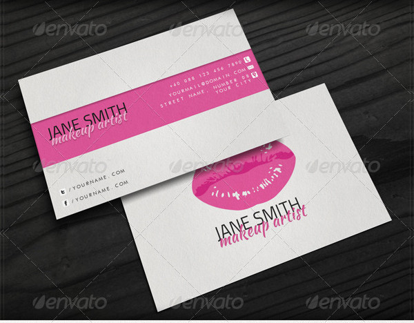 Unique Makeup Artist Business Card
