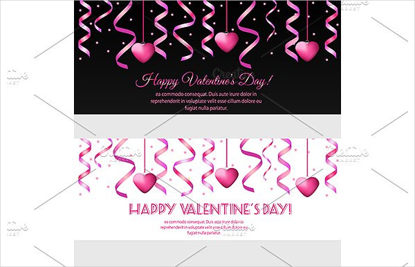 Famous Valentine Day Banners Template