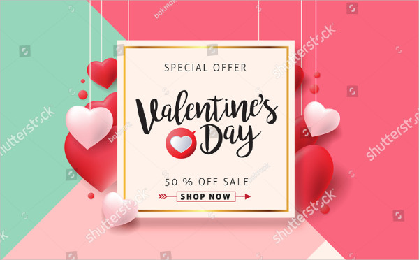 Valentines Day Sale Banner Background