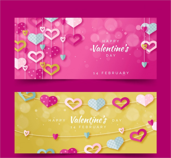 Valentine's Day Promotion Banner Free Download