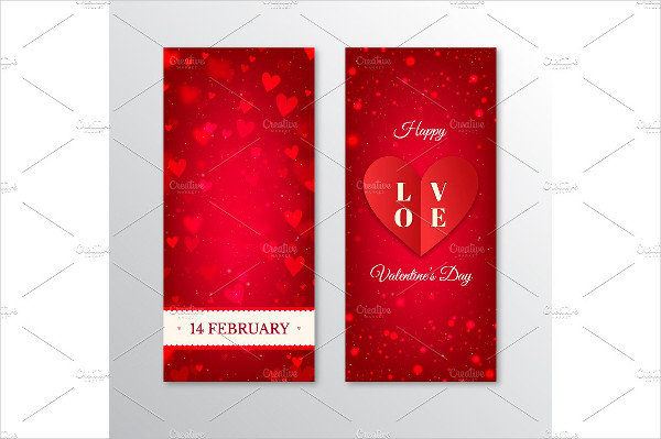 Cool Valentine's Day Vertical Banners