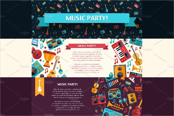 Vector Party Banner Template