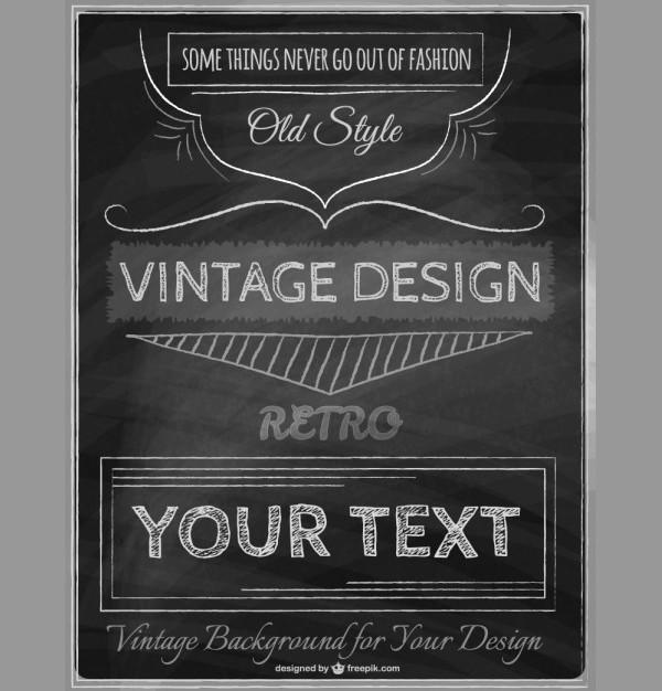 Vintage Chalkboard Poster Template Free Download