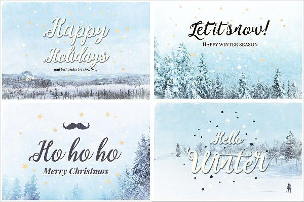 Vintage Christmas Cards Design