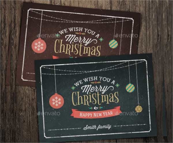 Vintage Christmas Photo Card Template