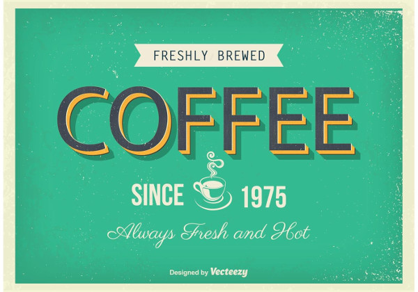 Vintage Coffee Restaurant Poster Free