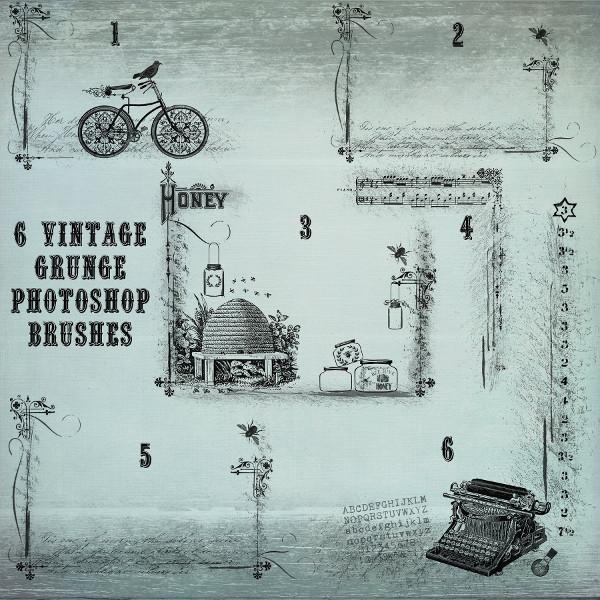 Vintage Grunge Photoshop Brushes