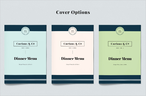 Vintage InDesign Menu Template