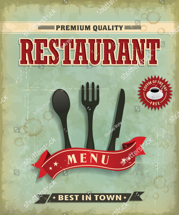 Vintage Restaurant Food Menu Poster Design