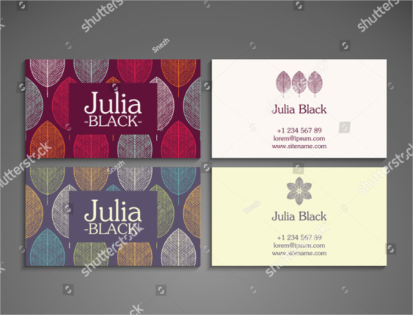 Vintage Yoga Business Cards Examples