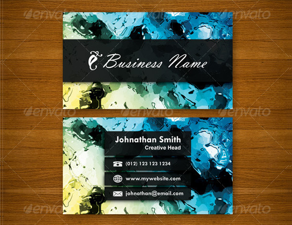 Water Paint Business Card Template
