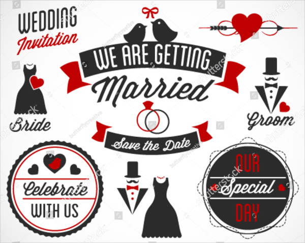 We Are Getting Married Vector Labels