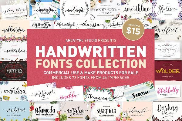 Wedding Handwritten Fonts Collection