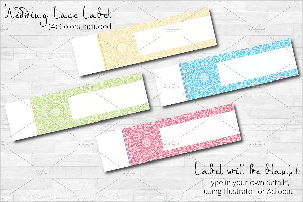 Wedding Lace Wrap Labels Template