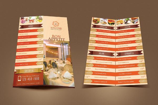 Welcome Restaurant Menu Card Pack