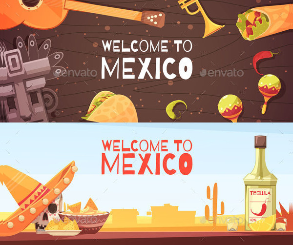 Welcome To Mexico Horizontal Banners