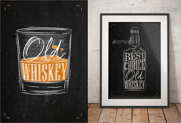 Whiskey Chalkboard Posters