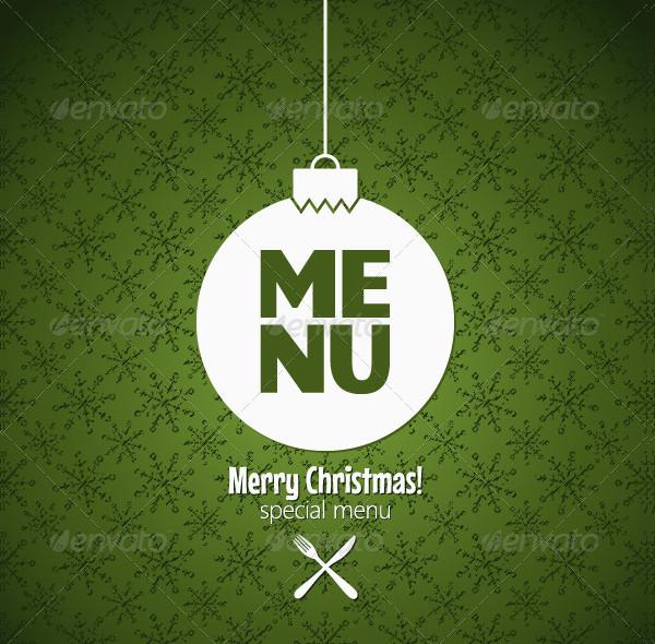 Winter Holidays Special Menu Design