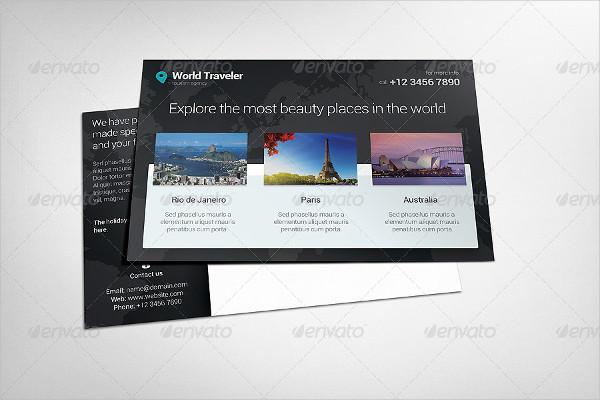World Traveler Postcard Template
