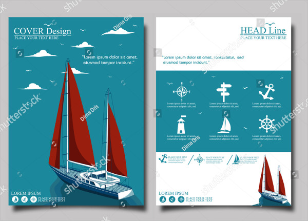 Yacht Club Flyer Design Template