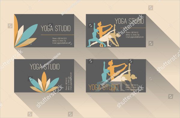 Yoga Training Business Card Template