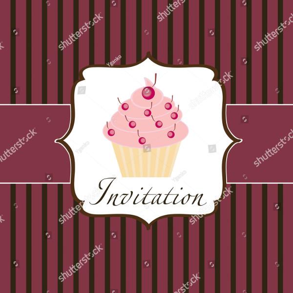 Popular Cupcake Invitations Design